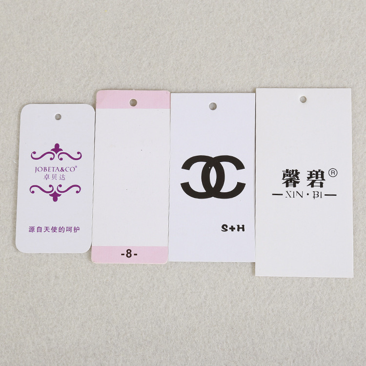 2017 Most Demanded Products Private Clothing Paper Tag, Clothing Paper Tag Printing