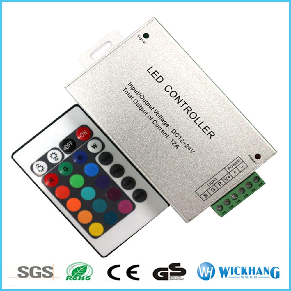 24 Keys LED Controller LED IR Remote Dimmer DC12V 12A for RGB SMD LED Strip