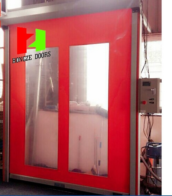 China Manufacturer Quick Roll up Auto Recovery Rapid Roll Door (Hz-FC070)