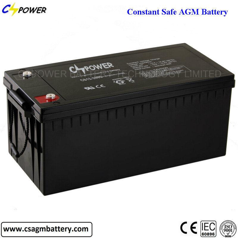 12V 200ah Rechargeable Solar Mf Deep Cycle Lead Acid Battery