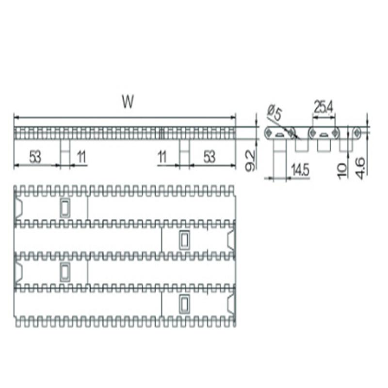25.4mm Pitch Modular Belt (WZ-2540B)