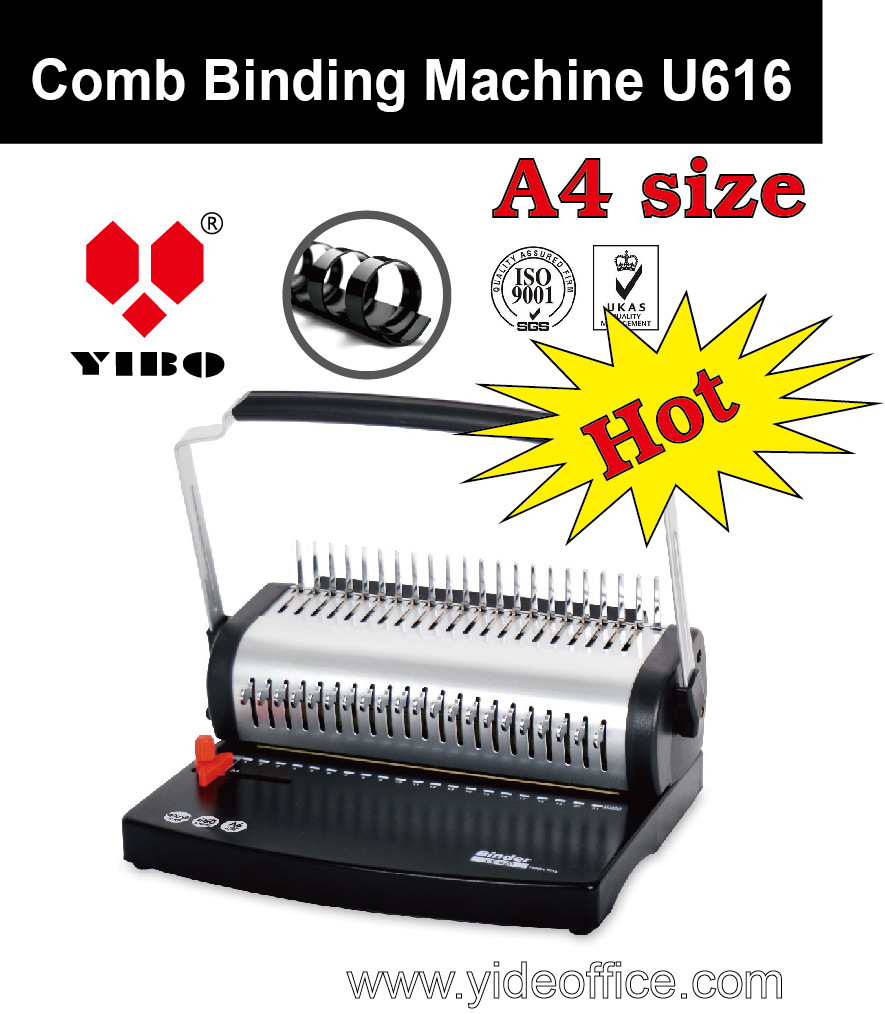 U Handle A4 Size Plastic Comb Binding Machine U616