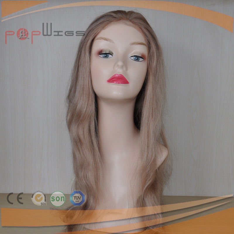 Human Hair Golden Full Lace PU Back Hot Selling Women Wig