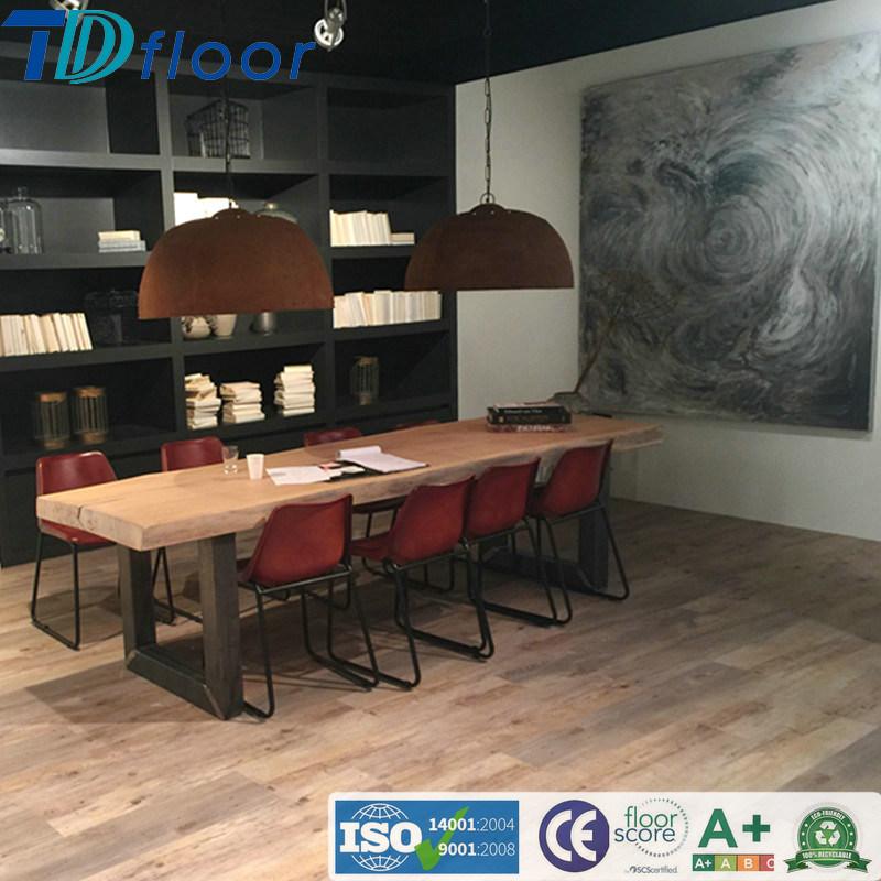 New Abstract Art Design Wood Plastic Composite WPC Floor