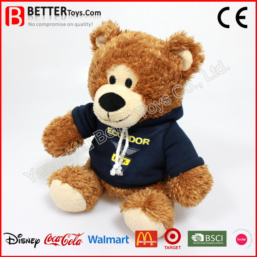 Promation Stuffed/Soft/Plush Toy Teddy Bear in Hoodie