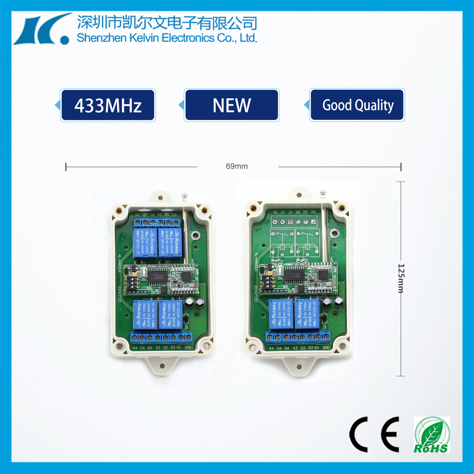 868/915MHz Two Way Communication Remote Controller Kl-K400la