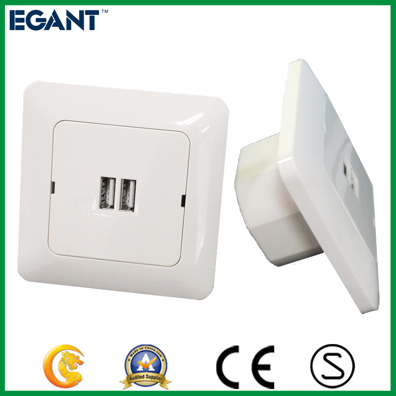 Ce Certificated Two Types Wall Outlet with USB