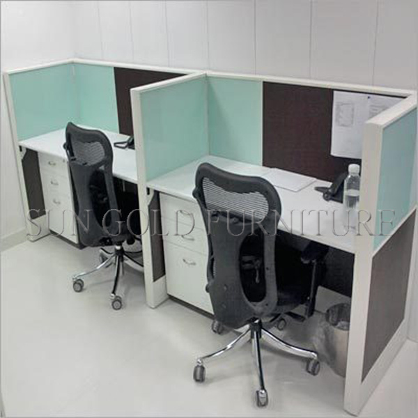 Classic Yellow Panel Office 6 Seater Call Center Cubicle with Drawer Unit (SZ-WS249)