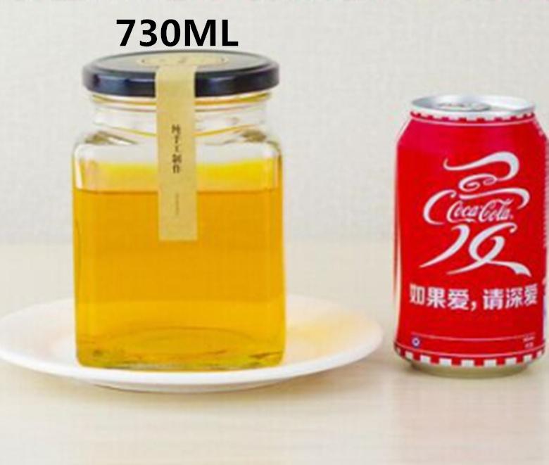 730ml Honey Pickles Lead-Free Glass Bottle