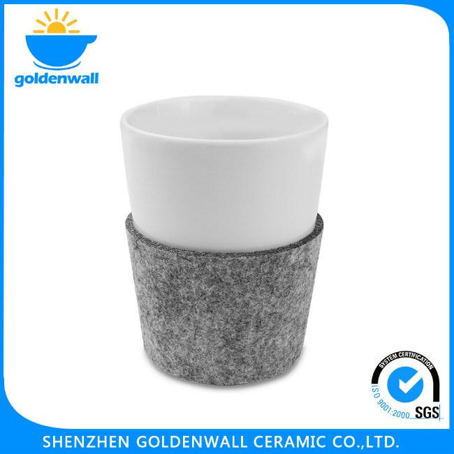 Customized Double Layer Ceramic Coffee Mug