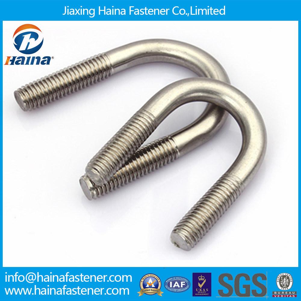 Stainless Steel L Bolt, J Bolt, U Type Bolt Hook Anchor Bolt / U Bolt