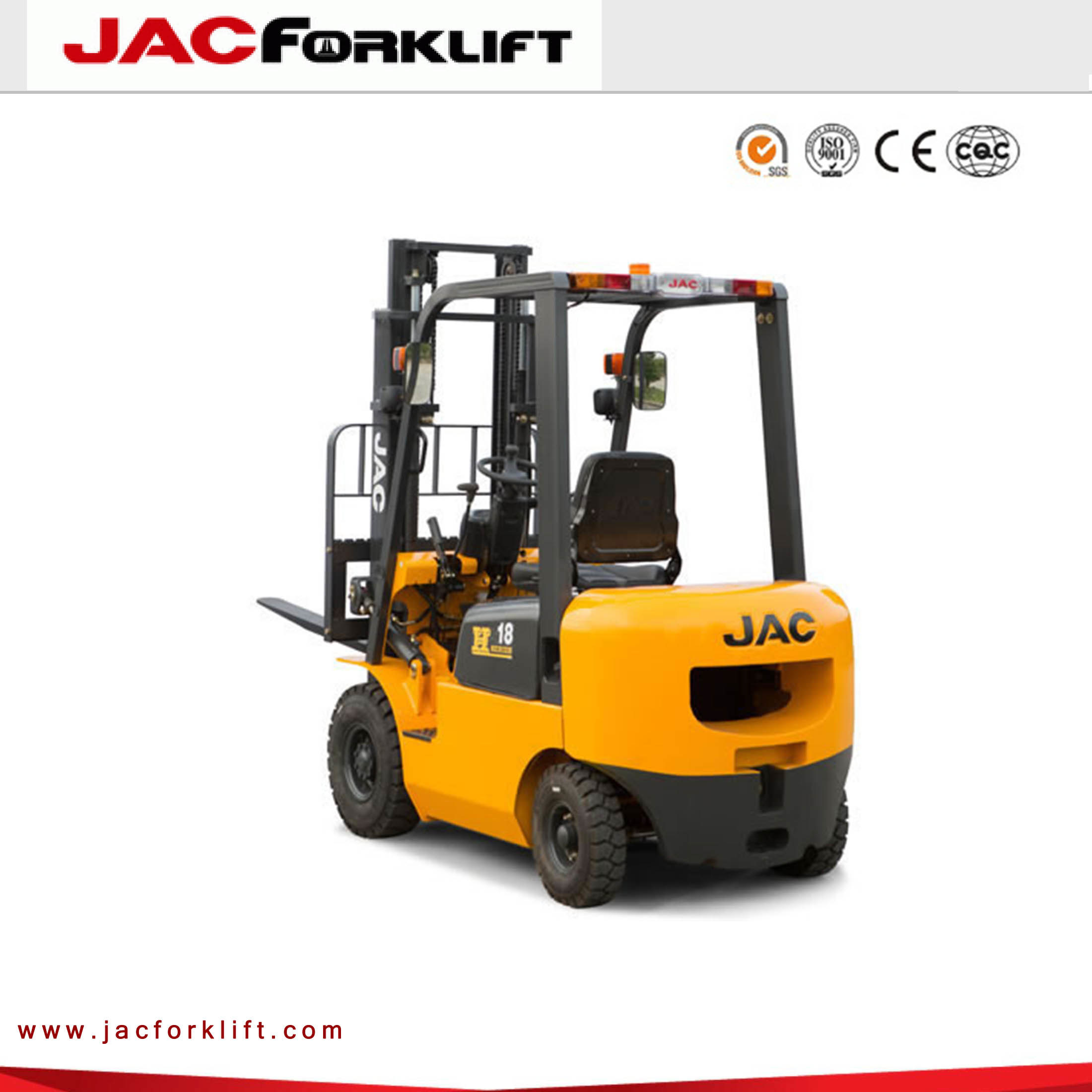 1t Diesel Forklift Truck with Japan Isuzu Engine