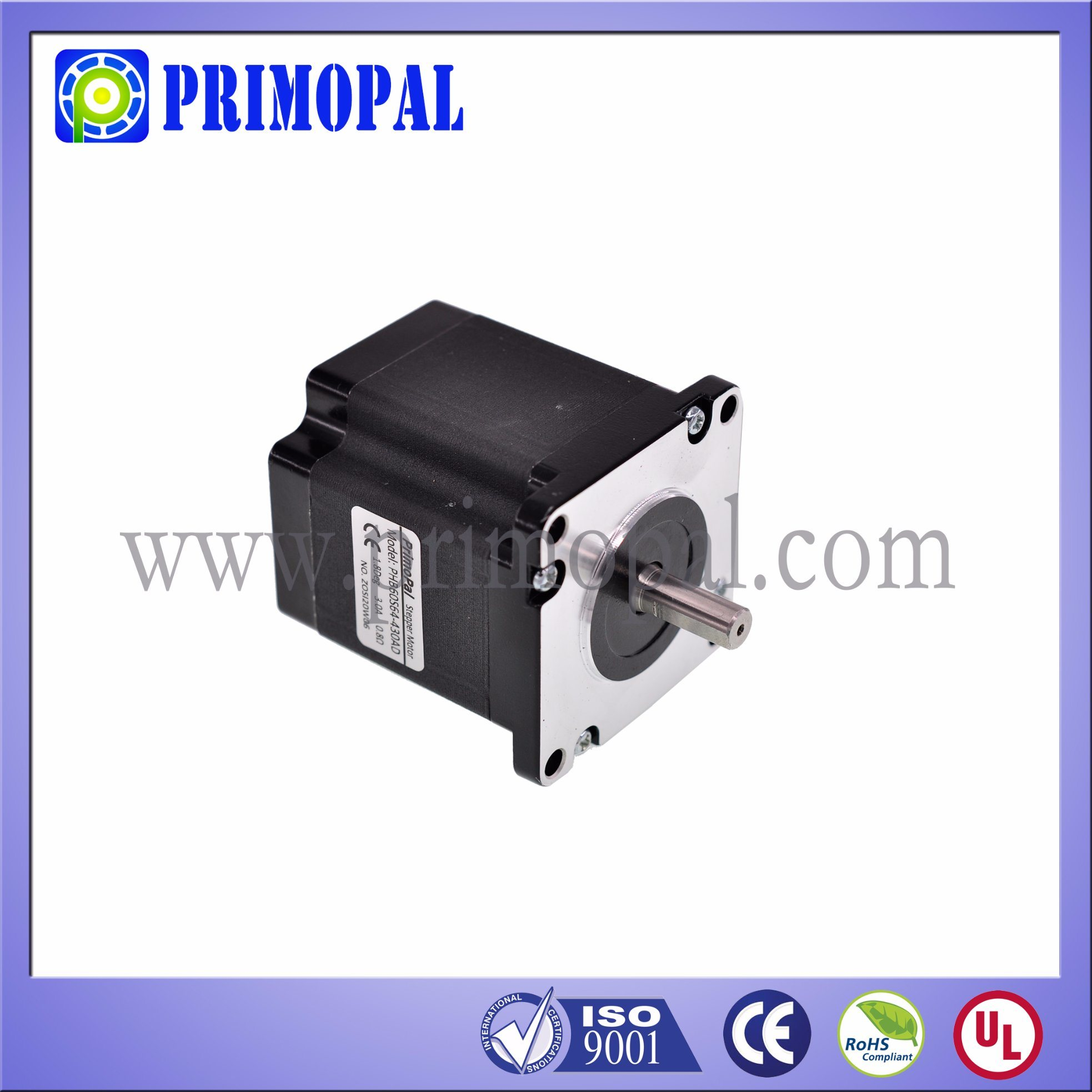 1.8 Step Angle NEMA 24 Square Stepper Motor for Industrial Printer