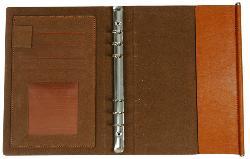 Hardcover Custom PU Leather Notebook with Logo Printing