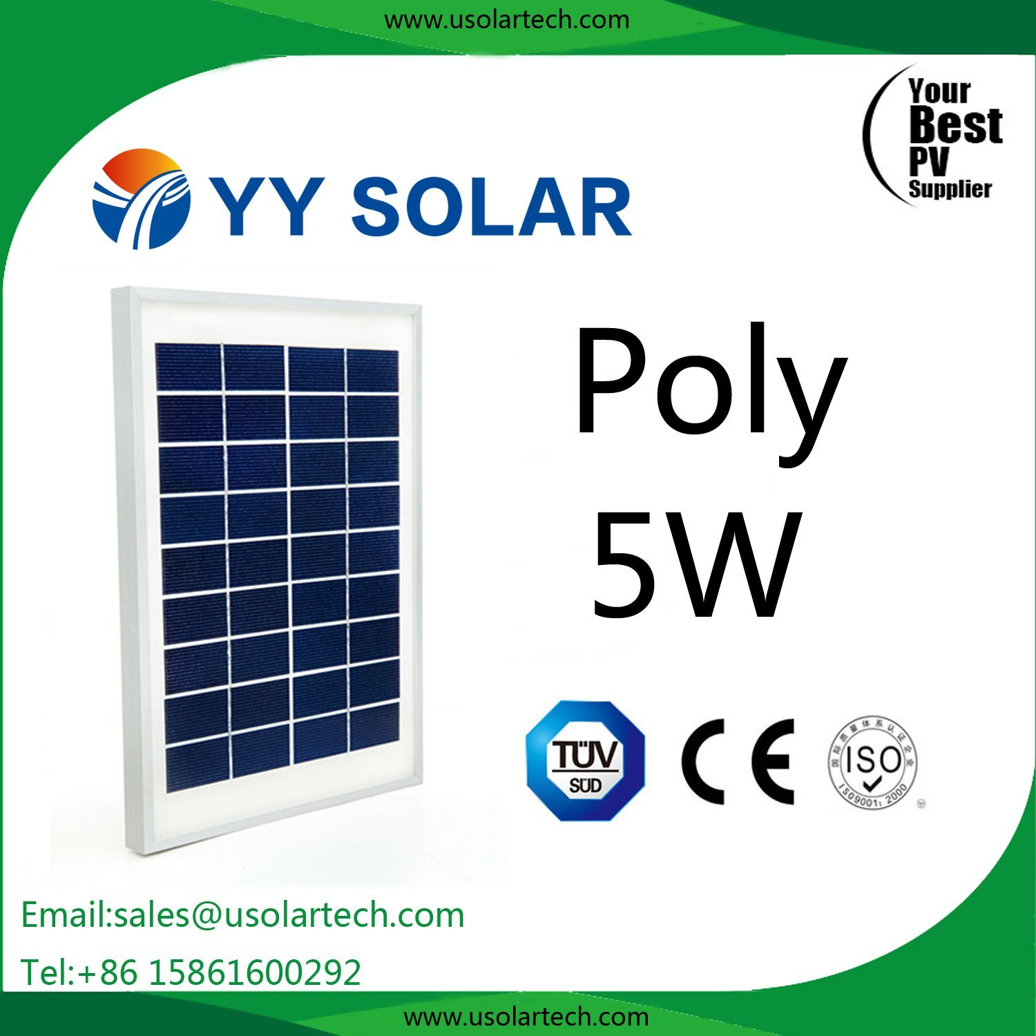 OEM 3W/5W Low Price Poly Solar Panel in Stock
