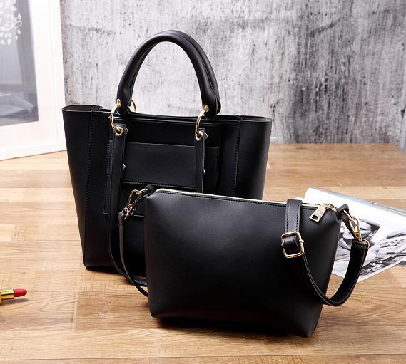 2017 New Multi-Poket Hand Bag Single Color Leisure Ladies Bag Set Hcy-5027