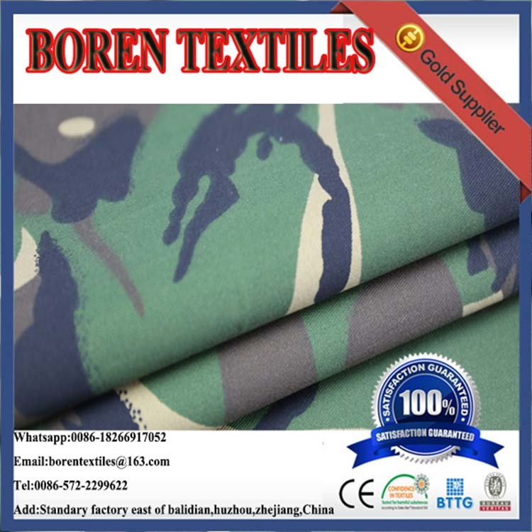 Factory Wholesale CVC Kahki Marine Camouflage Fabric