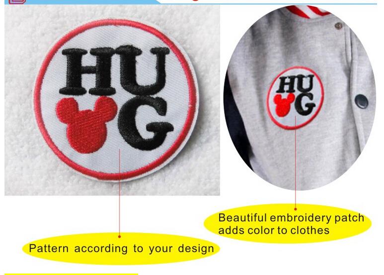 Cute Cartoon Embroidery Logo Garment Accessary
