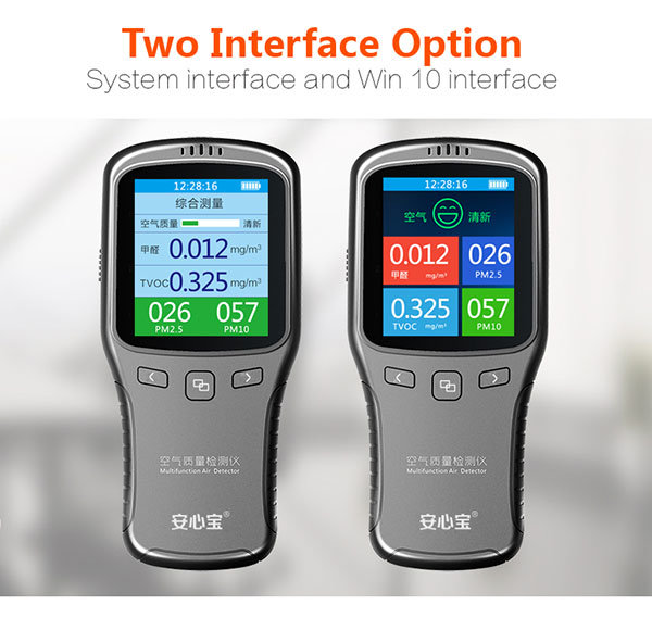 Vson Factory Supply Low Price Multi Air Quality Detector with Colorful LED Display