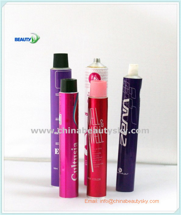Cosmetic Hair Dye Oil Care Hand Cream Empty Aluminum Plain Tube