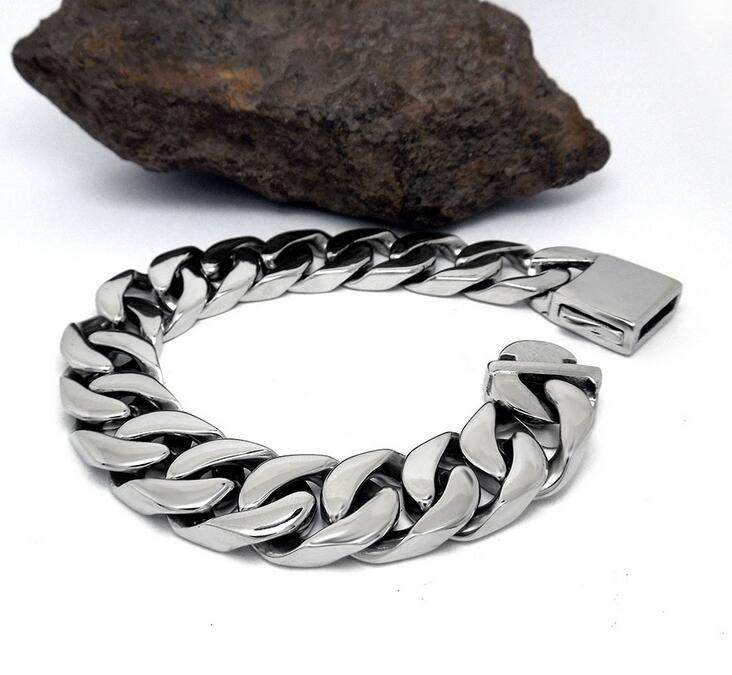 Fashion Accessories Men Cuban Bracelets Stainless Jewelry Non-Fading