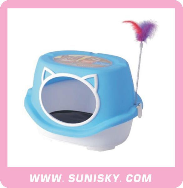 Plastic Pet House Cat House with Toys