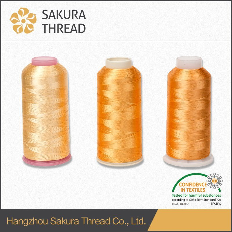Oeko-Tex 100 High Tenacity Rayon Embroidery Thread 120d/2 China Supplier