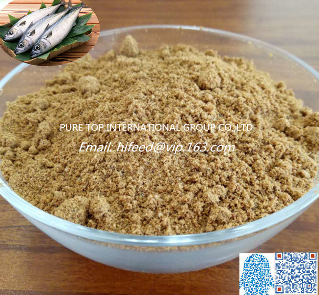Feed Grade 60% Protein Fish Meal Fish Feed for Poultry Animal Livestock China Manufacture
