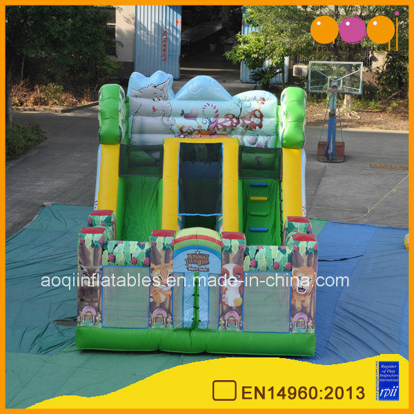 Inflatable Playground Animal Jungle Combo Bounce with Slide (AQ0141)
