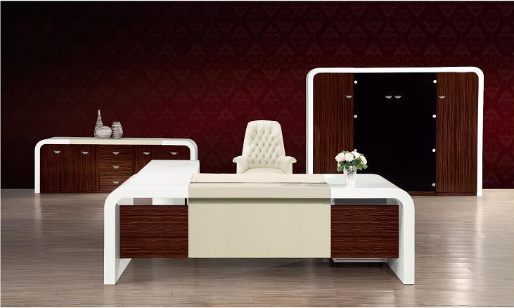 High Glossy Painting MDF Wooden Executive Office Table (HX-ND5019)