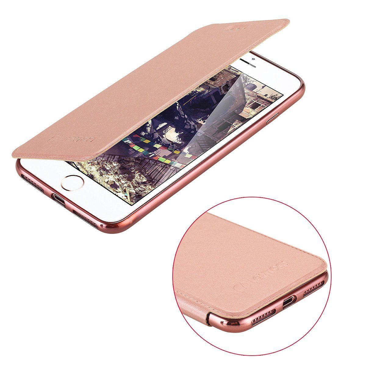 iPhone 7 PU Leather Flip Case Card Slot TPU Cover