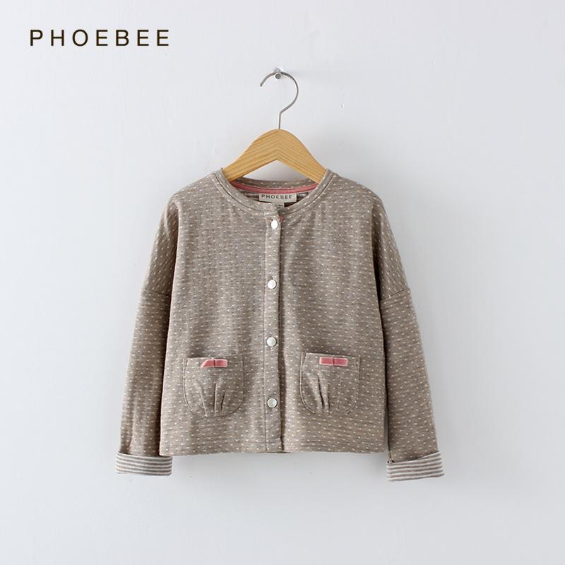 Phoebee Round Neck Long Sleeve Spring/Autumn Children′s Apparel for Girls