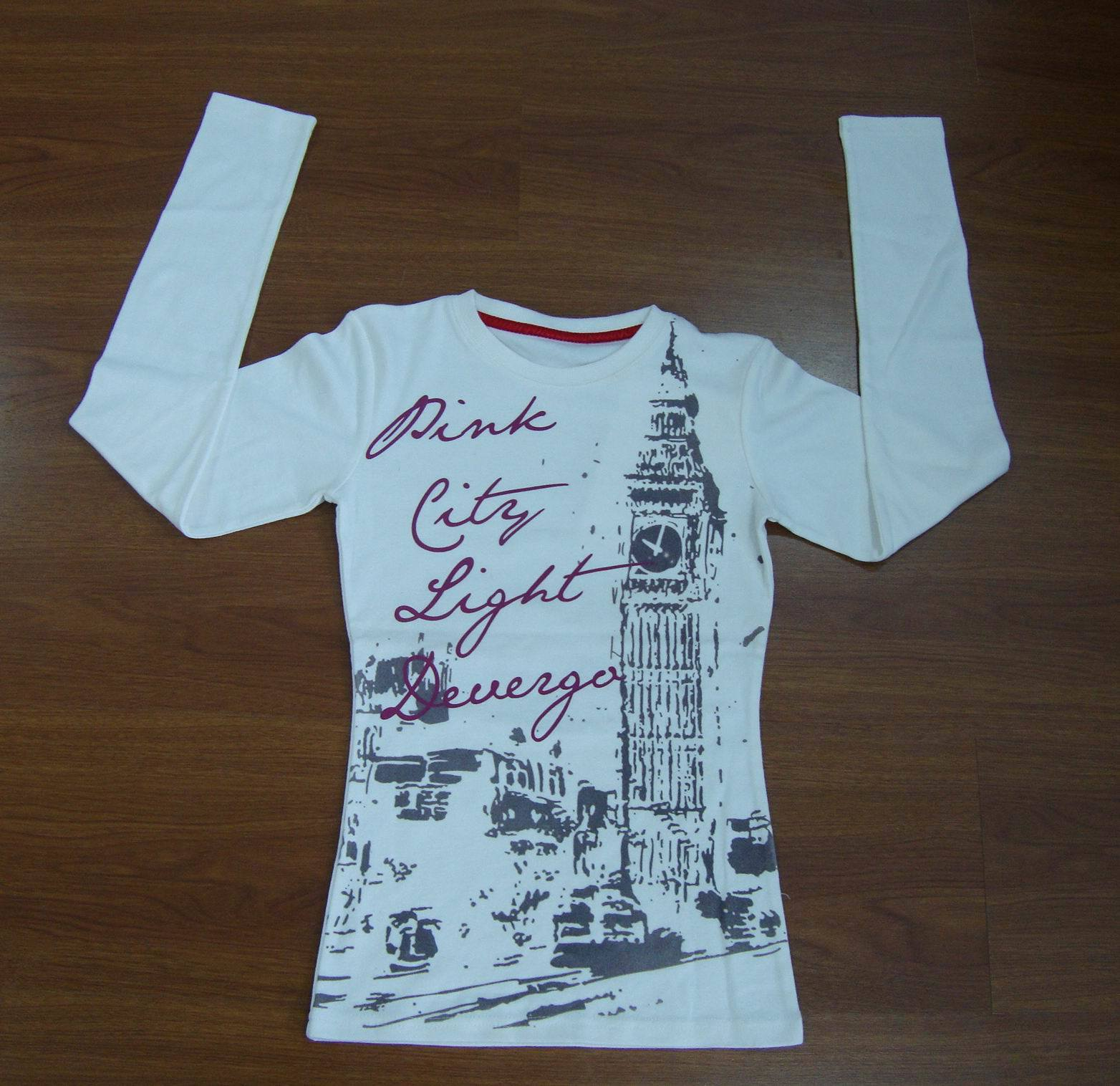 Women′s Long Sleeve Printed T-Shirt