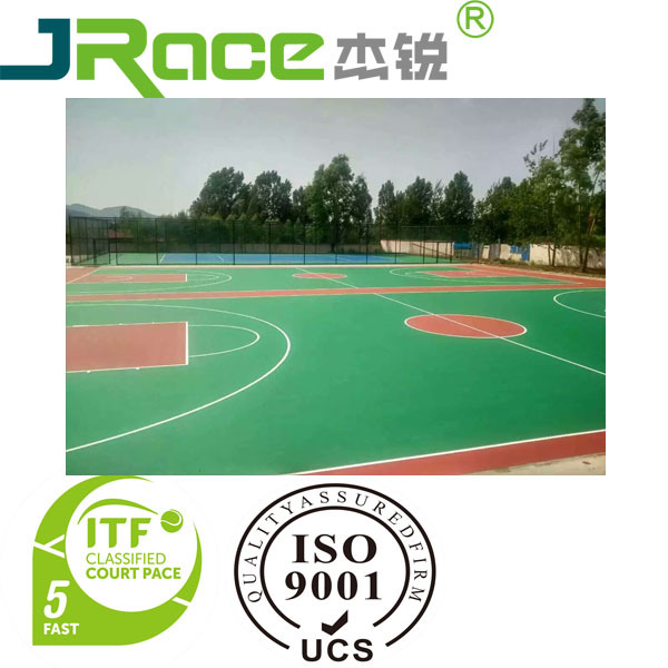Silicon PU Outdoor Tennis Sport Courts Surface