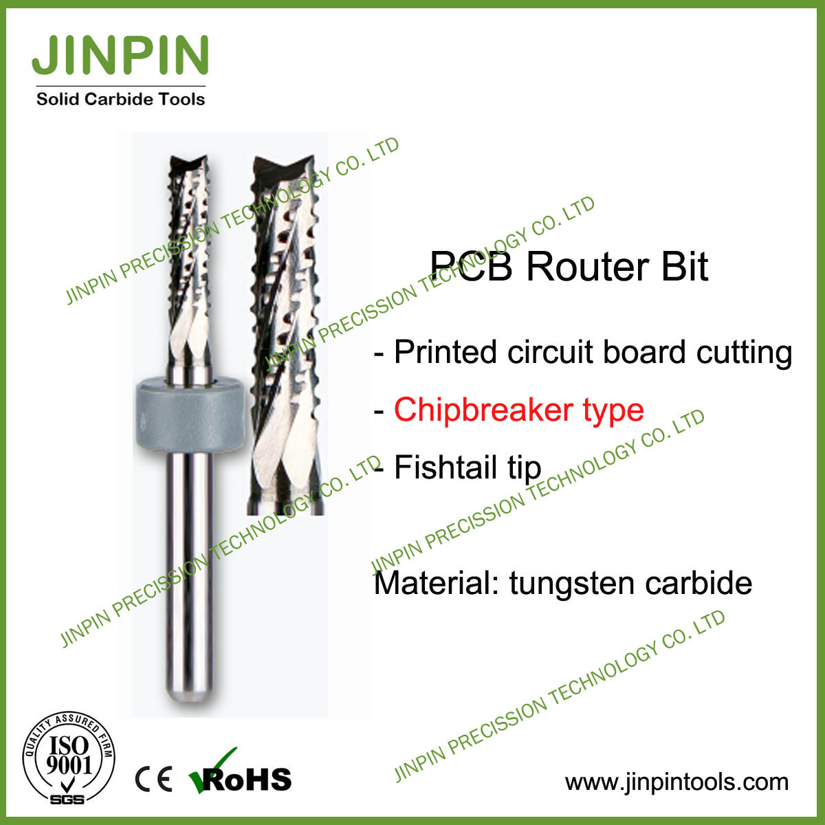 Excellent Quality Solid Carbide Chipbreaker Type PCB Router Bit