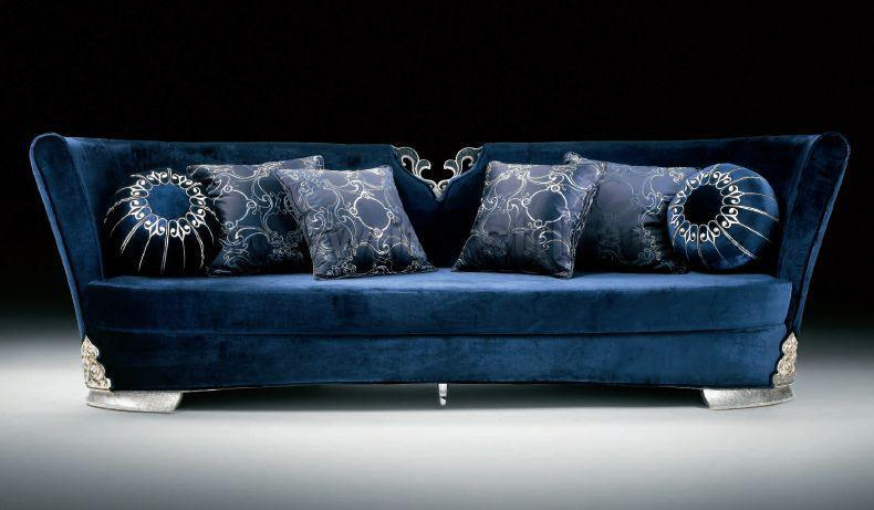 China blue leather sofa latest design sofa set s012 for China sofa design