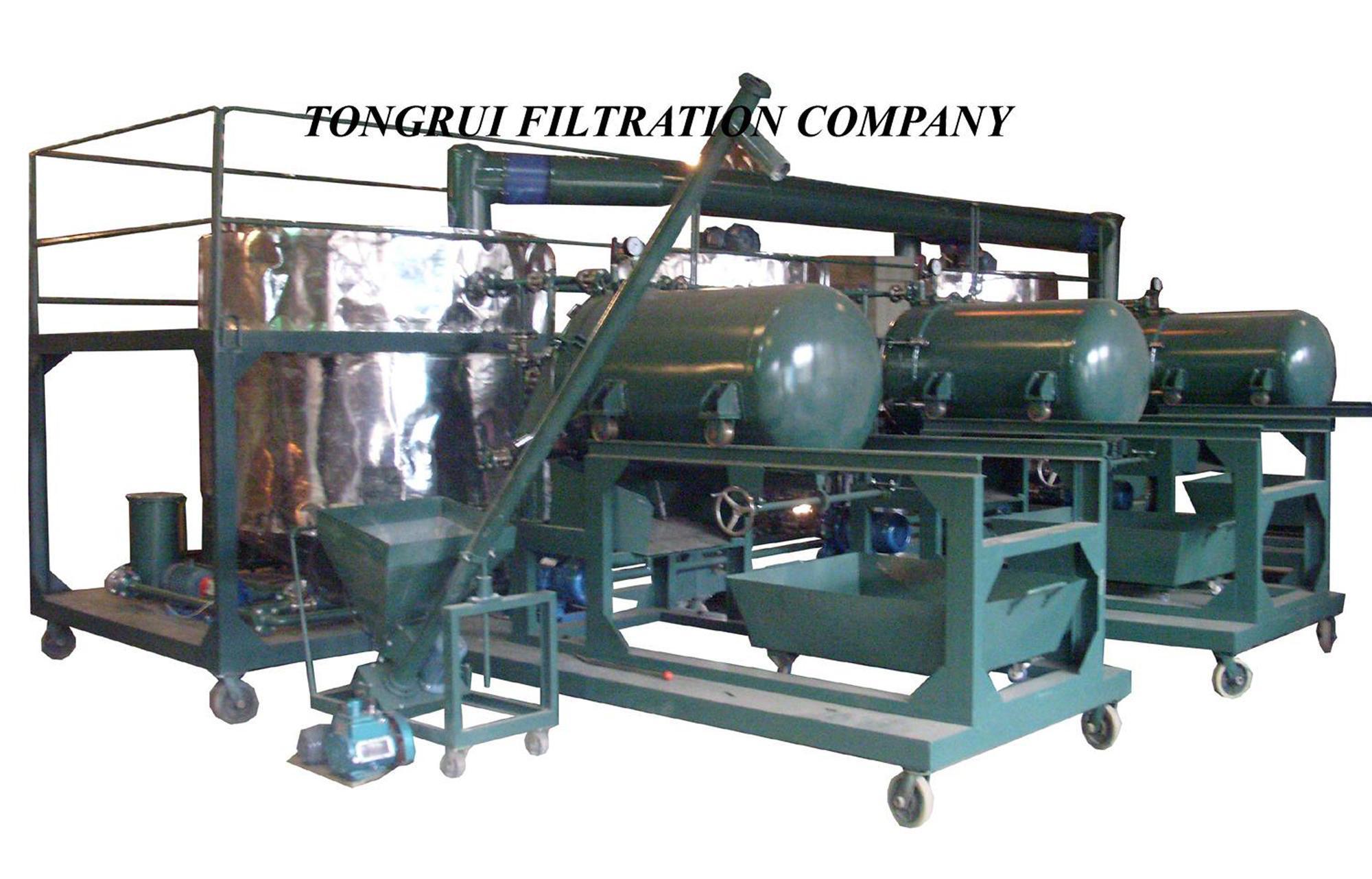 China black vehicle engine oil refining equipment nry v for Refining used motor oil