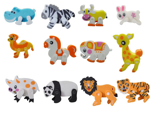 borrador animal 3D con las piernas movibles – borrador animal 3D ...