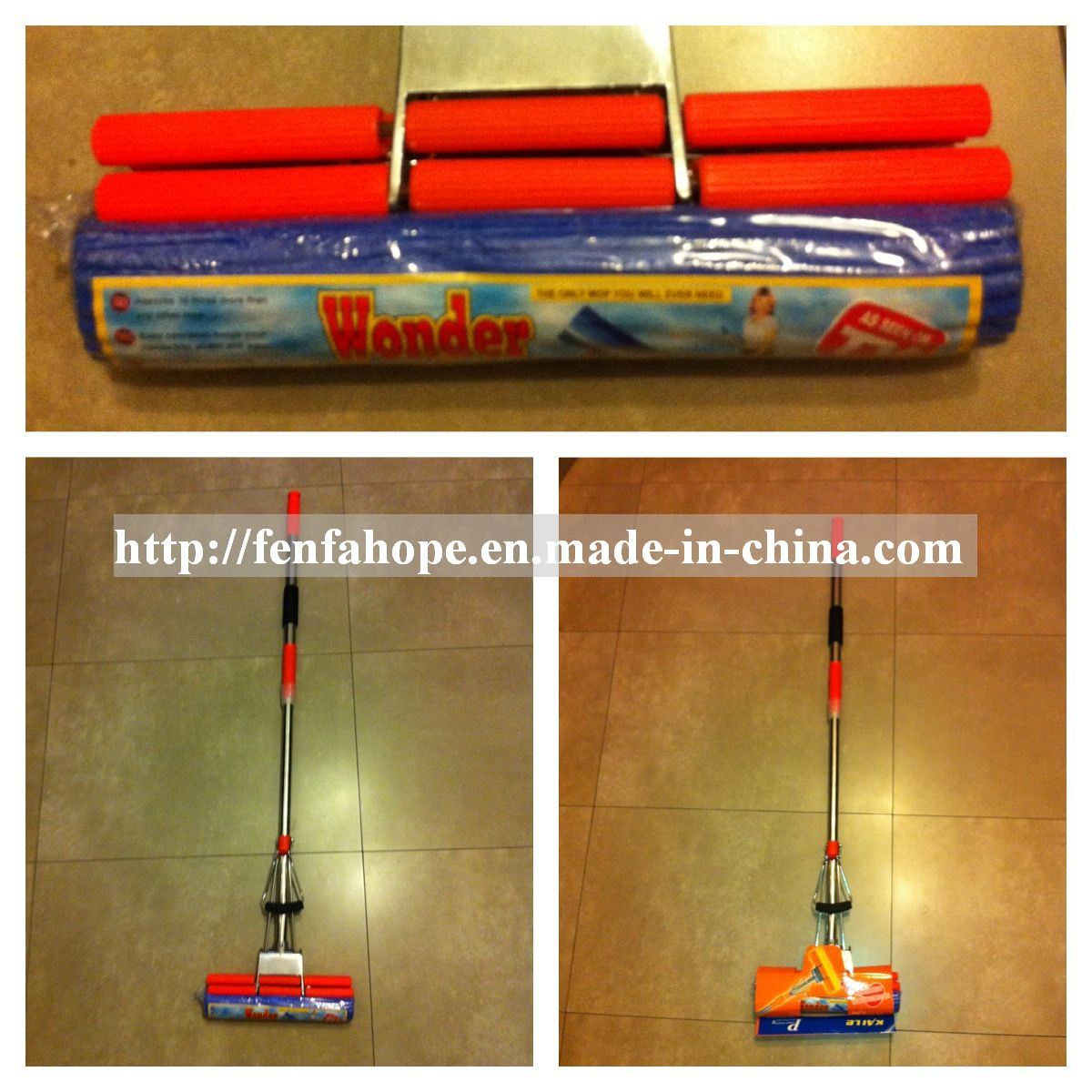Easy Cleaning Water Absorbent PVA Mop (11MFF436)