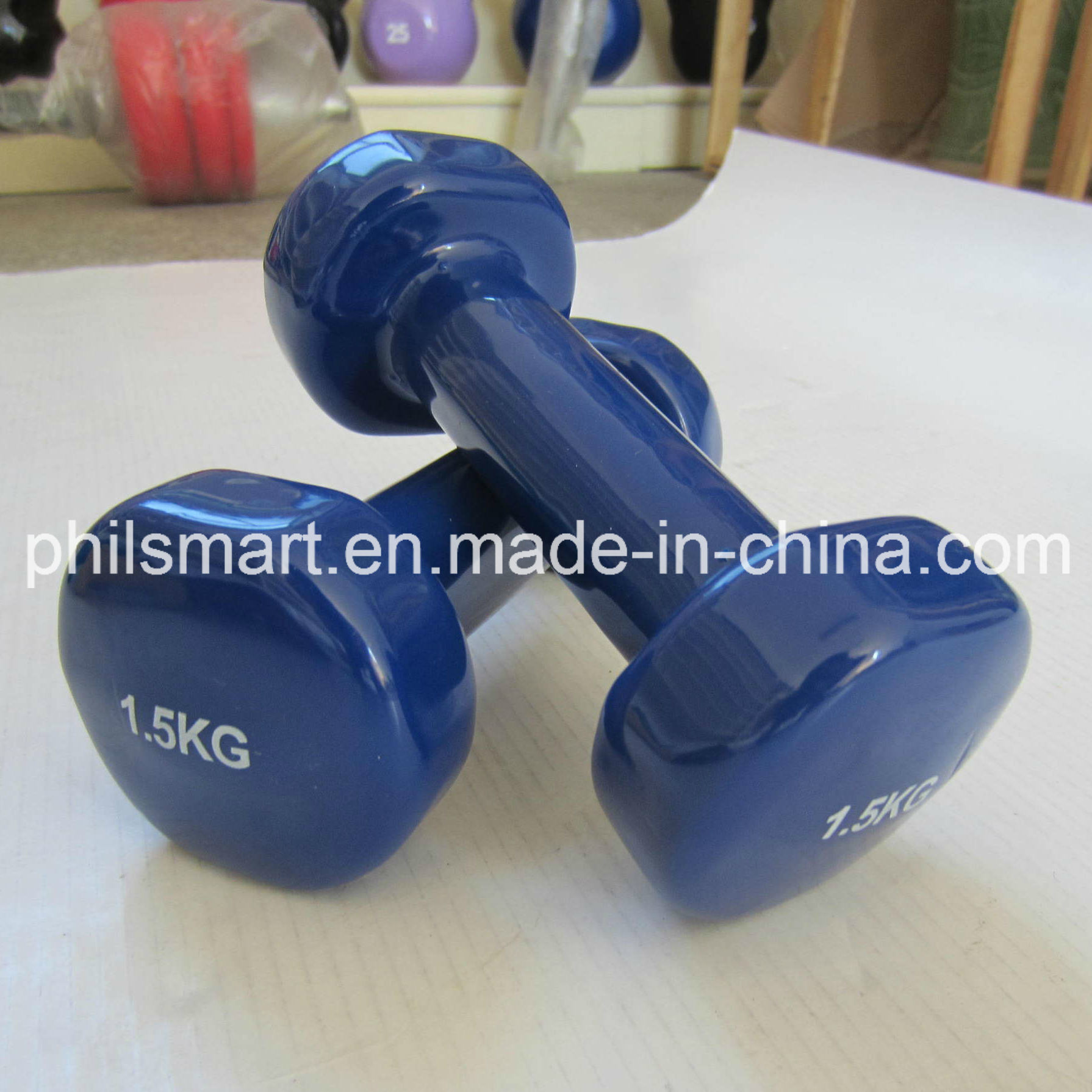 Vinyl Dipping Coated Exercise Dumbbells