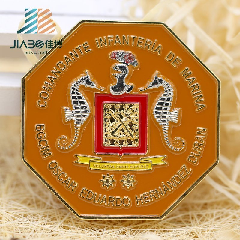 Jiabo Antique Copper Professional Custom Metal Euro Coin with Box