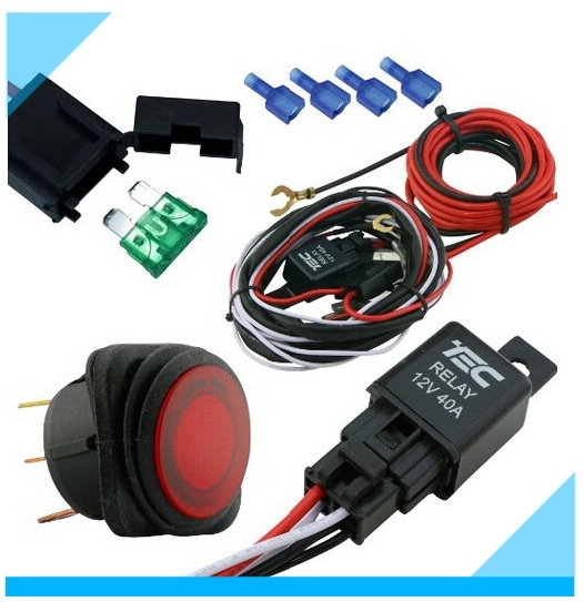 Auto Electric Car LED Headlight Fog Light Wire Harness