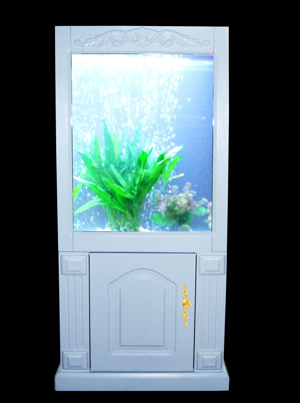 Mini Solid-Wood Cabinet Fish Tank (DQ-L048)