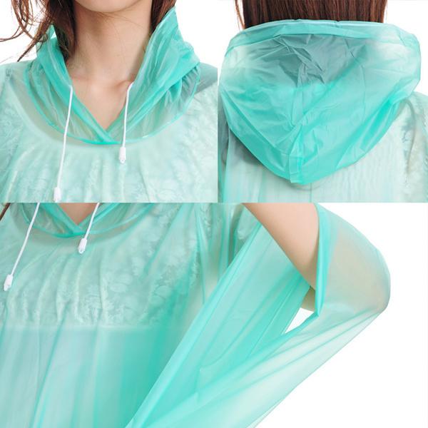 Clear Green Lightweight PVC Rain Ponchos Rvc-124