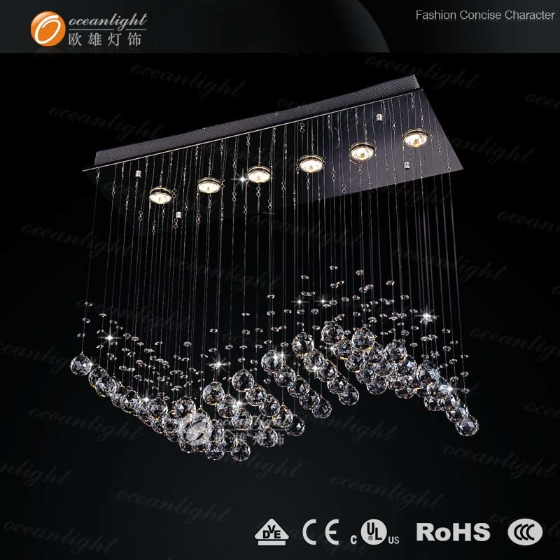 Hotel Crystal Residential Chandelier Lighting, Ceiling Lamp, Crystal Ceiling Light (OM711)
