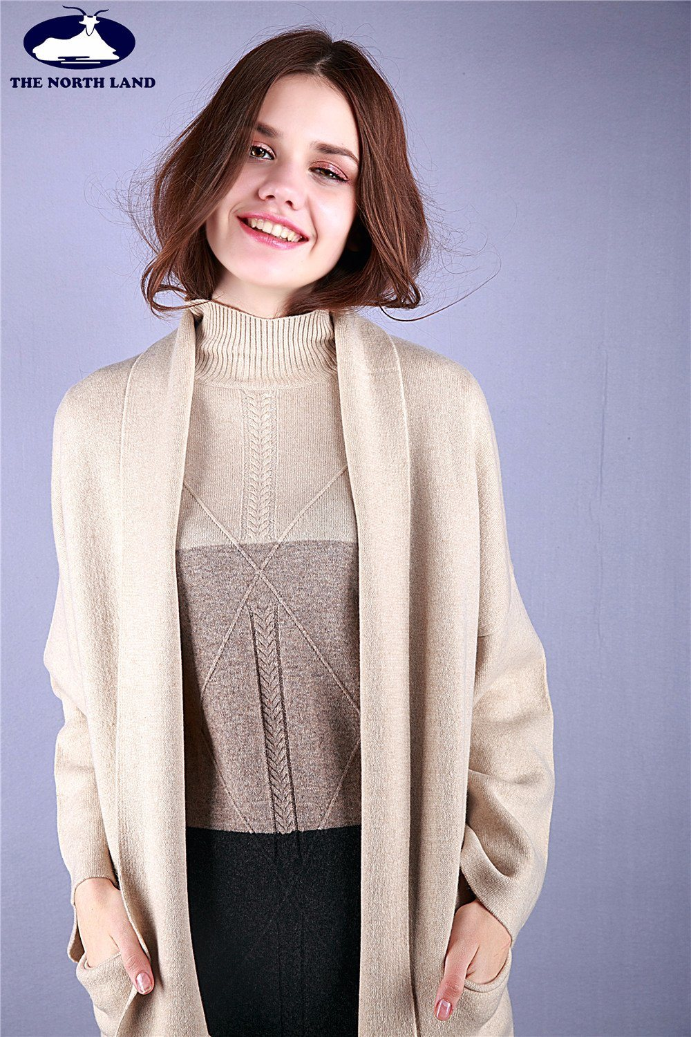 Cashmere Reversible Knitted Coat Women