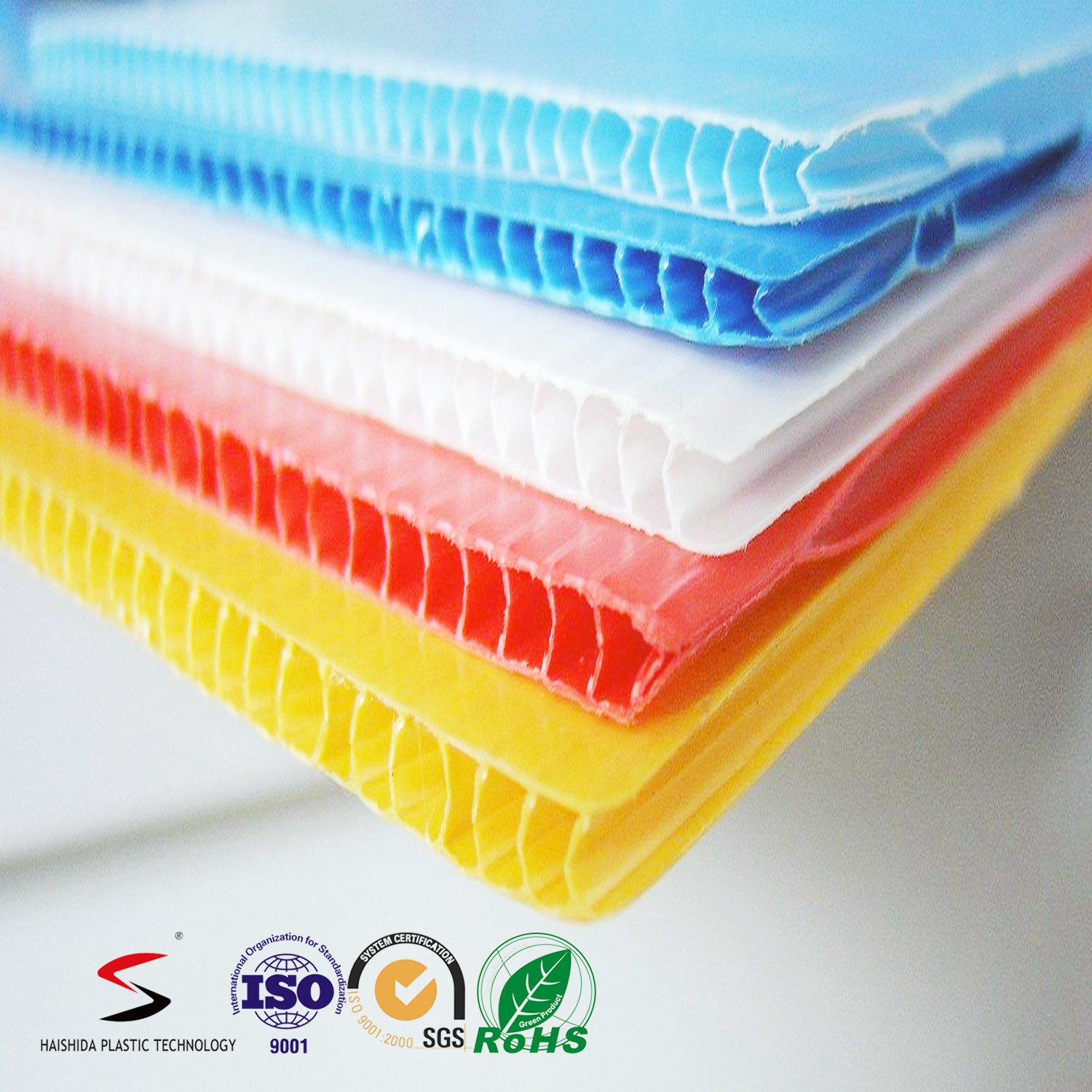 Corflute Board/ Polypropylene PP Twin Wall Corrugated Plastic Sheet 5mm