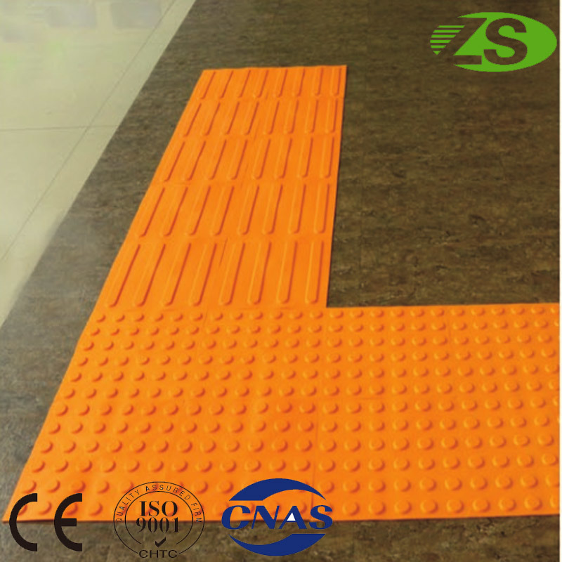 Hot Sale Road Tactile PVC Floor Rubber Tiles for Blind