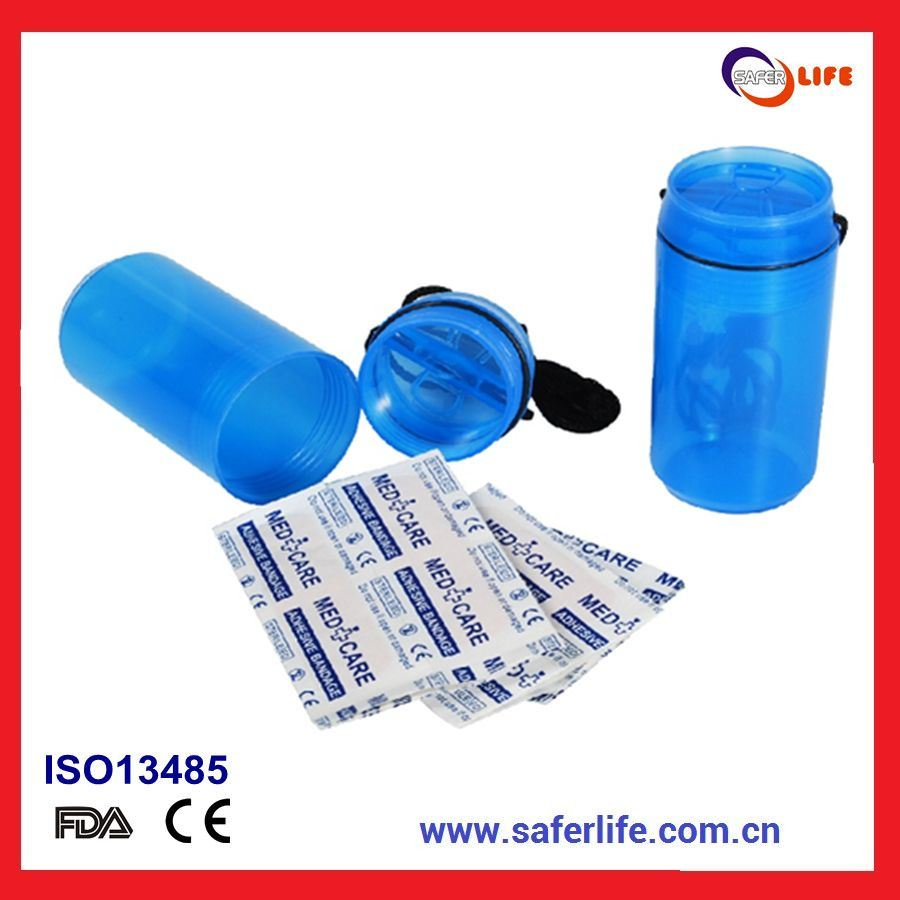Colored Dispenser with 5 Bandages Waterproof Mini Plaster Kit