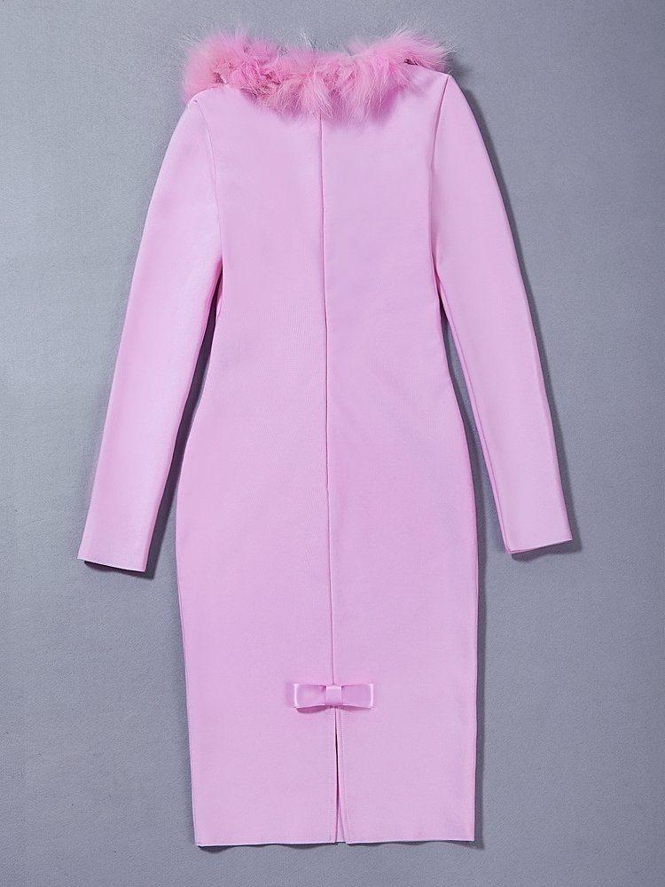 Athens Beauty Fur Collar Purified Cotton Lady Garment
